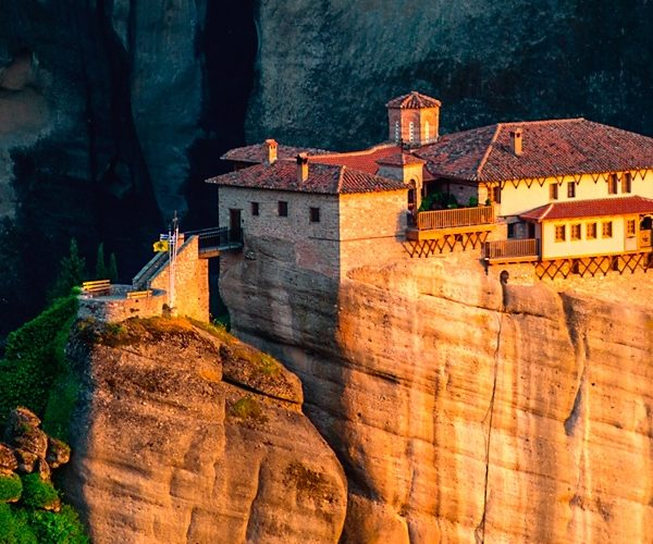 The Holy Monastery of Rousanou at the complex of Meteora monasteries in Greece