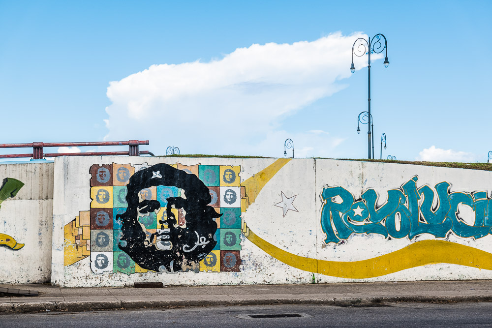 Grafitti of Che Guevara on the strreets of Havana